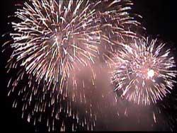 何年も前の東京湾大華火祭