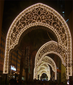 ららぽーと南船橋のクリスマスイルミネーション