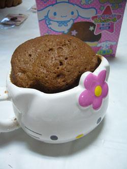 マグカップケーキシナモンロール