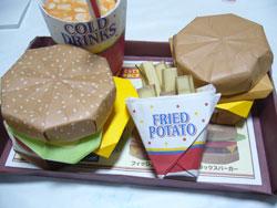 ハンバーガーの折り紙