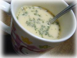 パスタにかけるスープ