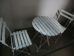 ベランダテーブル椅子セット