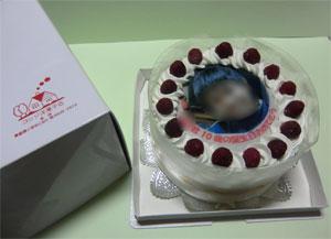 誕生日写真ケーキ
