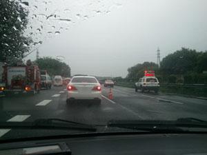 本庄児玉あたりで、事故渋滞